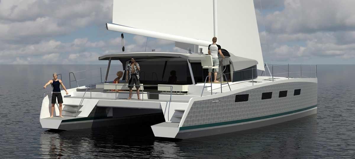 Voilier catamaran ovnicat 3D